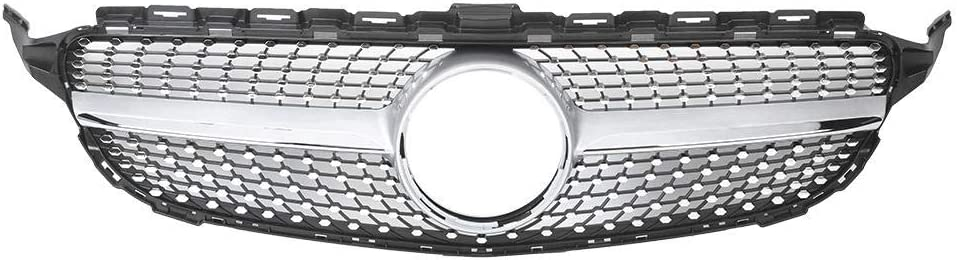 KIMISS Auto Car Front Bumper Grill Grille Accessory Fits for W205 15-18