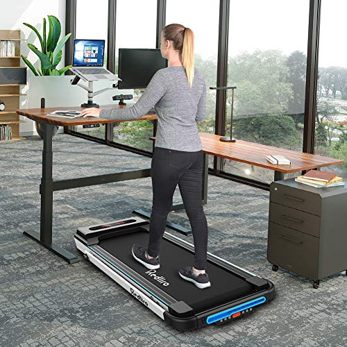 Under-desk folding treadmill