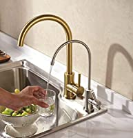HAPHID Drinking Water Faucet High Flow 3//8 Kitchen Sink Water Filter Faucet 100/% Lead-Free Fits Water Filter or Reverse Osmosis System in Non-Air Gap Stainless Steel 304 Body Brushed Finish