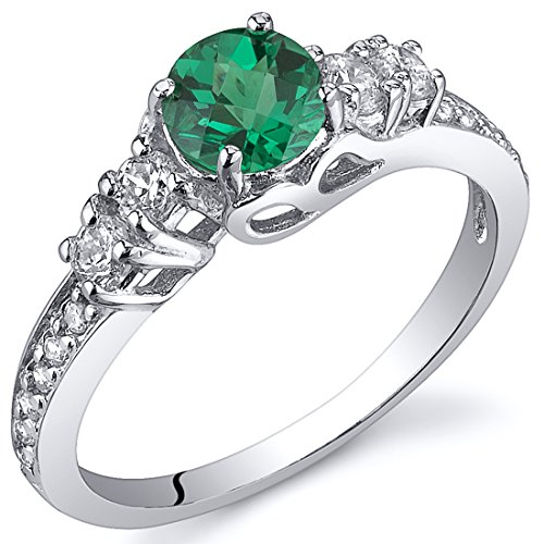 Simulated Emerald Solstice Ring Sterling Silver Size - Return Solstice Policy