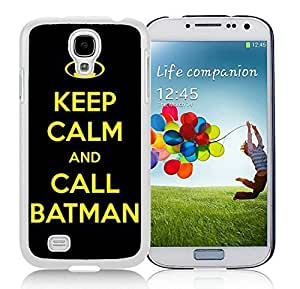 Customized Case Keep Calm And Call Batman Samsung Galaxy S4 I9500 Case in White