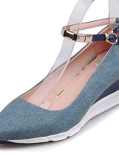 ZQ Zapatos de mujer-Tac¨®n Cu?a-Cu?as / Tacones / Innovador / Puntiagudos / Punta Cerrada-Tacones-Exterior / Vestido / Casual-Tejido-Azul / , dark blue-us8 / eu39 / uk6 / cn39 , dark blue-us8 / eu39 / dark blue-us6 / eu36 / uk4 / cn36