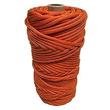 SGT KNOTS MilSpec Mil-C-5040H Type III (7 Inner Strands - 600 LB) or Type IV (11 Inner Strands - 800 LB) Paracord on 200ft, 100ft - Several Colors (T3 - International Orange 50ft)