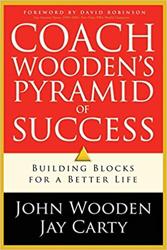 photo regarding John Wooden Pyramid of Success Printable known as Train Woodens Pyramid of Achievement: John Picket, Jay Carty