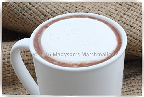 Marshmallow Beverage Topper - 8 individually wrapped circular shaped Marshmallows - Unique Gift (Vanilla Latte) (Beverage Topper compare prices)