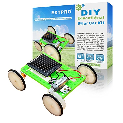 (Extpro DIY Assemble Toy Set Solar Powered Car Kit Science Educational Kit for Kids Students)