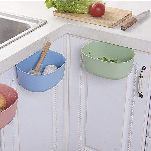 plastic kitchen small trash cans garbage bins hanging can storage cabinet desktop food waste. Black Bedroom Furniture Sets. Home Design Ideas