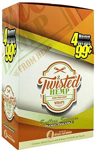 15 pk Twistes Hemp Wrap Endless Summer 4 leaf per -
