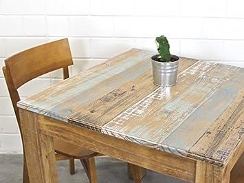 Esstisch Shabby 80x80 Massiv Holztisch Altholz Kuche Retro Vintage Design Tisch Canela Esszimmertisch Rustikal FSCR