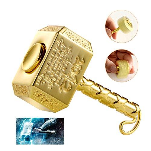 Wiitin Thor's Battle Hammer Fidget Hand Spinner Made by Metal, the Mighty Mjolnir Toy-Golden Hammer