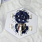 Efavormart 8'' Hexagon Glass Mirror Wedding Party Table Decorations Centerpieces - 6 PCS