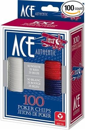 Carta Mundi USA 1510 Carta Mundi USA 1510 Ace Plastic Poker Chips 100 Count
