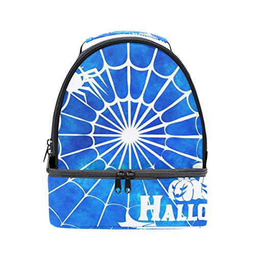 DEYYA Halloween Spider Silhouette Insulated Lunch Bag Reusable