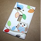 Treetop Owl Forest Woodland Boys Bedroom Baby Nursery Light Switch Cover LS0062 (Single Standard)