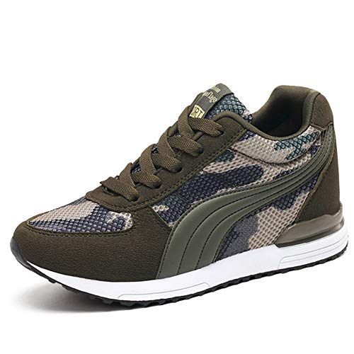 Brown Camouflage Shoes - COSDN Womens Camouflage Invisible High-Heeled Wedge Platform Sneakers Breathable Casual Shoes Size 6 Camouflage