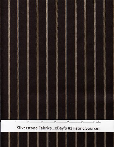 Designtex Gramercy Stripe Chocolate Brown Fine English Wool 4.75 yards HK11 by Designtex