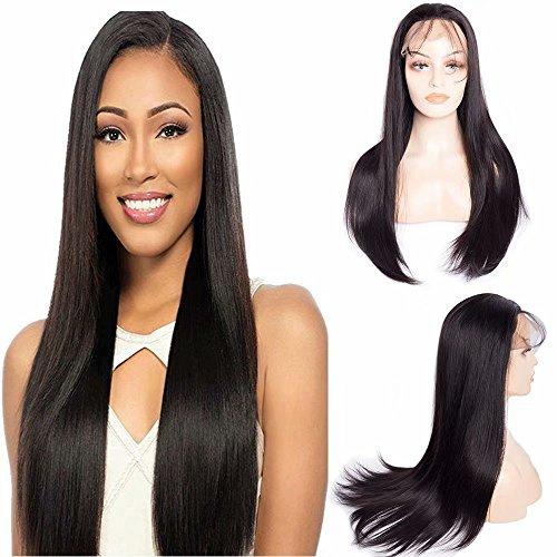 Maxine – Peluca de pelo humano con encaje de onda, 180 % de densidad, cabello natural de alta calidad, pelo humano brasileño virgen, peluca delantera con pelo de bebé para mujeres negras, nudos blanqueados
