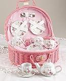 Delton Products Rose Tea Set for 2, Pink