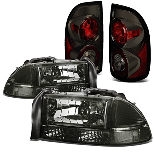 dodge-dakota-4pcs-pair-of-smoked-lens-clear-corner-headlights-smoked-lens-altezza-style-tail-light