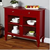 Layla Red Buffet. This Furniture Buffet with it's unique Queen Ann legs is the perfect addition to any dining area or kitchen