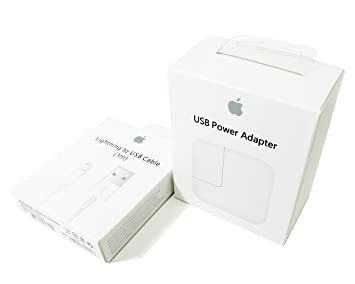Apple Kit Original Cargador - Cargador USB de 12 W (A1401) + ...