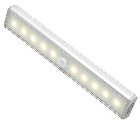 YESDA Lámpara LED del Armario 10 LEDs Barra de Luz Inalámbrica con Sensor de Movimiento,