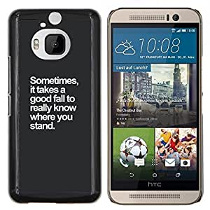 Dragon Case - FOR HTC One M9+ / M9 PLUS - fall stand inspirational motivational - Caja protectora de pl??stico duro de la cubierta Dise?¡Ào Slim Fit