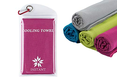 Instant Cooling Towel for Cooling Relief,40x12,100% Bamboo Microfiber, Chilling Neck Wrap, Ice Cold Scarf for Men&Women,Perfect for Gym,Sports,Golf, Travel, Yoga, Camping & More Activites,Pack of 2  (Travel Bamboo Towel)