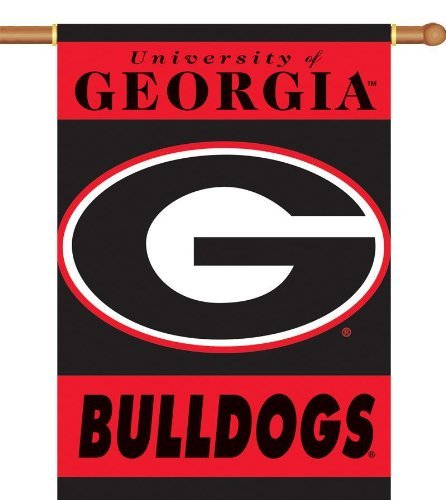 NCAA Georgia Bulldogs 2-Sided 28-by-40 inch House Banner G Logo with Pole Sleeve