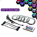 LED TV Backlight Bias Lighting, 2 Meter USB LED Light Strip with Remote Controller for 40 To 60 Inch HDTV,PC Monitor