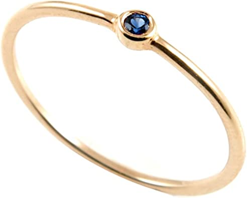 aion Saphir Ring Gold 750 0,02 Karat Damen Ring Solitär 18K