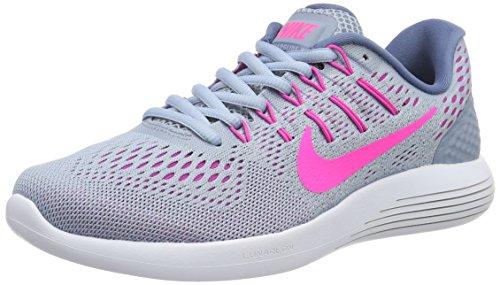 Nike Womens Lunarglide 8 Blu Grigio / Rosa Blast-blu Nebbia Tinta-oceano
