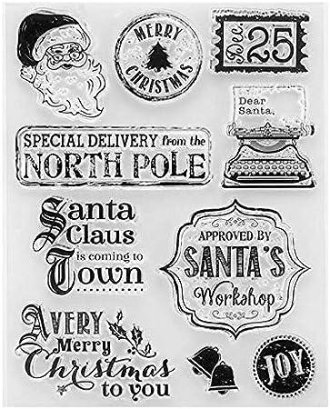 Amazon.com: Sellos DIVIC – Navidad Santa Claus transparente ...