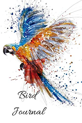 Bird Journal: A Cute Watercolor Bird Watching Logbook, Notebook, Journal, Diary And Guide Perfect For Birders And Birdwatchers, Great For Adults And Kids