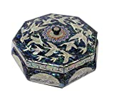 Mother of Pearl Crane Design Jewelry Box Nacre Artian Handcrafted Jewellry Case