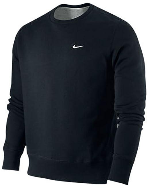 Nike Brushed Crew felpa. Girocollo. Polsini a coste
