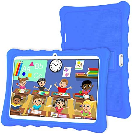 Tablet 10 inch,LAMZIEN Kids Tablet,Android 8.1 Quad-Core 1.8Ghz 2GB RAM 32GB Storage 1280×800 IPS Display 3G Dual-SIM Kids Software Pre-Installed,Blue