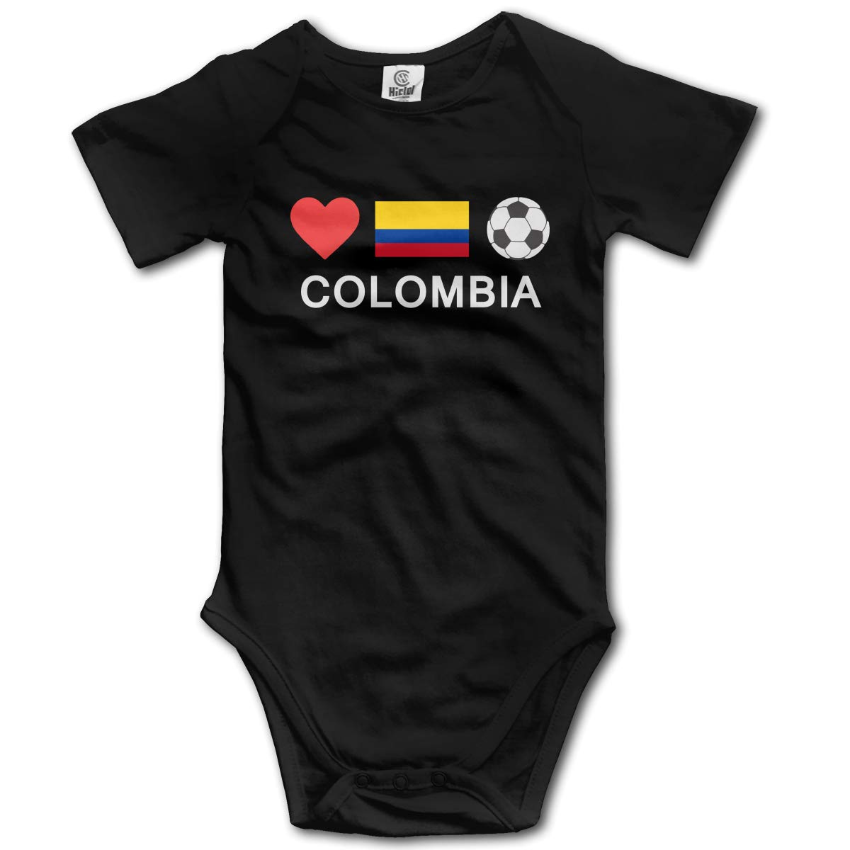 J122 Colombia Football Suit 6-24 Months Baby Short Sleeve Baby Clothes Climbing Clothes