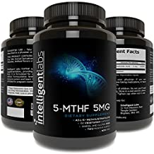 5MG L-5-MTHF By Intelligent Labs, L-5-Methyltetrahydrofolate Activated Folic Acid Supplement as Quatrefolic Acid® - Activated Folate