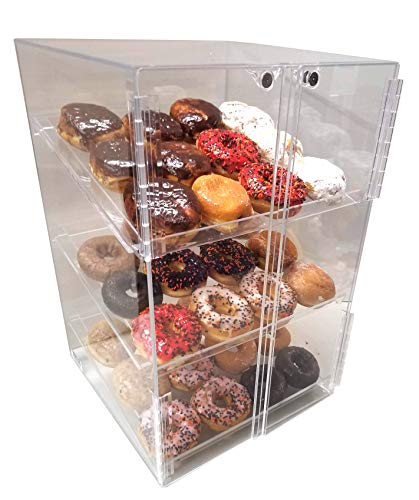 Self Serve Pastry or donut display case 3 trays for deli bakery convenience stores Display it and keeps ()