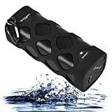 Wireless Bluetooth Speaker (Waterproof, Shockproof, Dustproof & Anti-scratch) Powerful Sound with Built in Microphone Works for Iphone, Samsung and Mp3 Smart Devices. Black, New 2015 Model! …