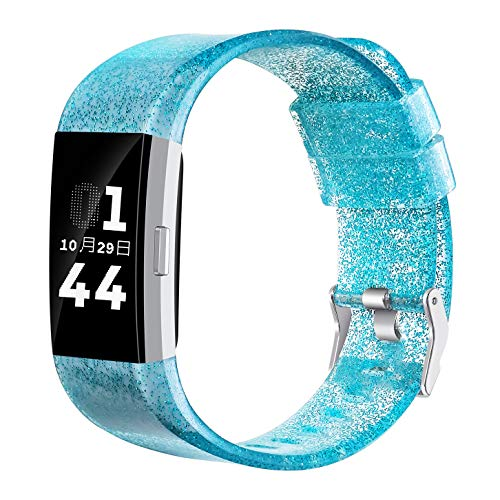 Libra Genimi Replacement Bands Compatible for Fitbit Charge 2, Adjustable Replacement Sport Strap Smartwatch Fitness Wristbands