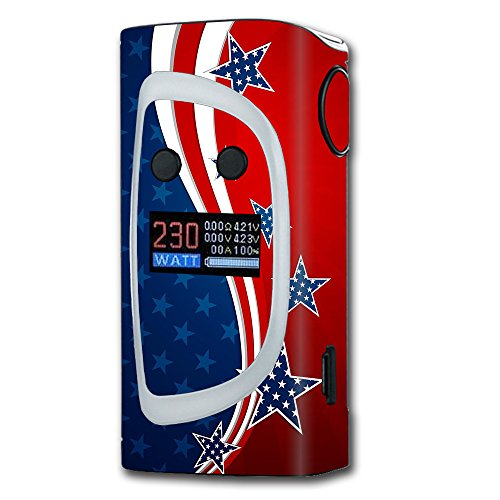Skin Decal Vinyl Wrap For Sigelei Kaos Spectrum Vape Mod Stickers Skins Cover  America Independence Stars Stripes