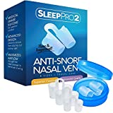 Premium Anti Snore Nose Vents Sleep Aid Device – Stop Snoring Naturally and Instantly - #1 Snore Stopper By SleepPro™ (Fine Grade Silicone)