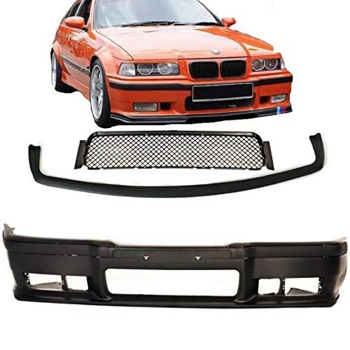 Accessori Evo Lippe per M3 M Bj 90-99 ABE DM Autoteile E36 Paraurti Anteriore Sport Nero