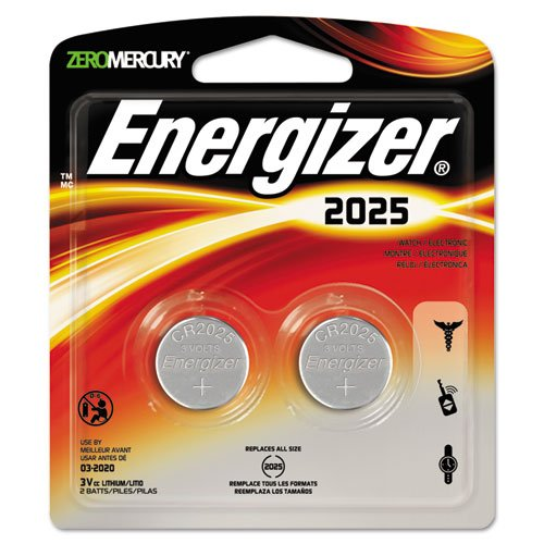 Eveready 2025BP2 Lithium Button Cell 2025 Size General Purpose Battery - 3V DC