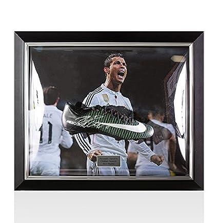 Enmarcado Cristiano Ronaldo Firmado Botas de fútbol Nike Mercurial – Real Madrid