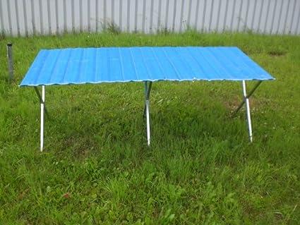 Tavoli Per Mercatini Pieghevoli.Tavolo Pieghevole Con Falda Rollabile 2m X 1 2m Per Mercatini