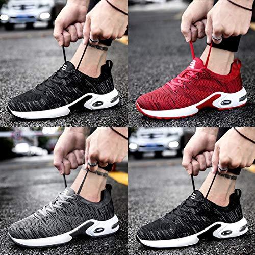 Corsa Air Donna Cushion Uomo Jogging all'Aria Sneaker Traspirante Sport da Casual Maglia Morbido da Sport Shoes Coppie Scarpe Aperta AzwqZq