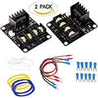 Heat Bed Power Module, 2-Pack 3D Printer Hot Bed Power Expansion Board / Heatbed Power Module / MOS Tube High Current Load Module with Cables